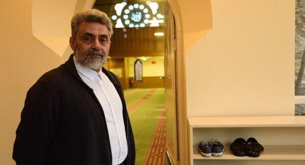 Faheem Bukhatwa in the Dublin Mosque, which, he says is vulnerable to attack. Picture: Moya Nolan