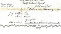 1892 liability life assurance letter resurfaces in Youghal
