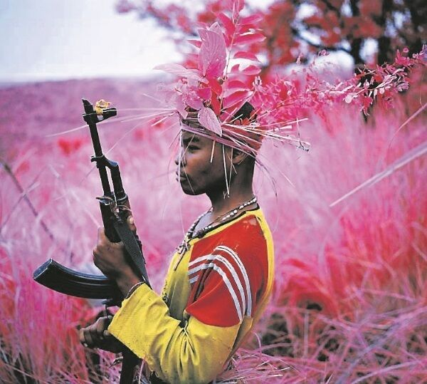 'Safe From Harm', 2012, one of a series of pictures Mosse, right, took in the Democratic Republic of Congo. Pictures courtesy of Richard Mosse, Jack Shainman Gallery, New York and carlier|gebauer, Berlin.