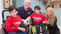 Formerly conjoined Cork twins mark milestone with a dream visit