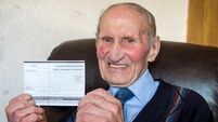 Election 2020: 102-year-old Peter Clarke casts his vote in Meath