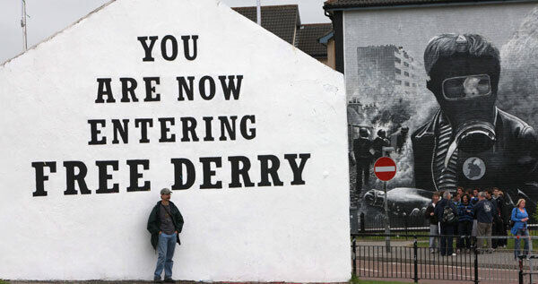 Free Derry Corner in the Bogside area is the only piece of street art on the island of Ireland to be designated a national monument.