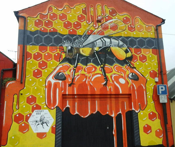 Lorraine MacDonnell's work in Killorglin, Co Kerry, commissioned as part of K-Fest and aimed at raising awareness of the plight of the honey bee.
