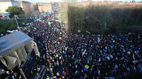 Tens of thousands gather in Dublin for water protest