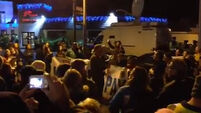 WATCH: Protestors surround hotel holding FG meeting with Taoiseach