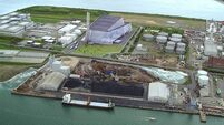 Work begins on Dublin's Poolbeg incinerator