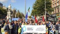Thousands on Dublin's streets at water charges demonstration