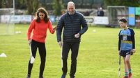 Royal couple show off GAA skills as they mark Galway's year of culture