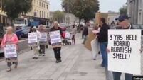 Protest at Cork waste-transfer plant over smells, rats and noise
