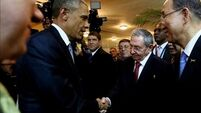 Obama and Castro hold historic meeting