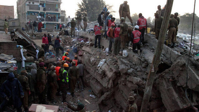 Two dead, including a child, after eight-storey building collapses in Kenya