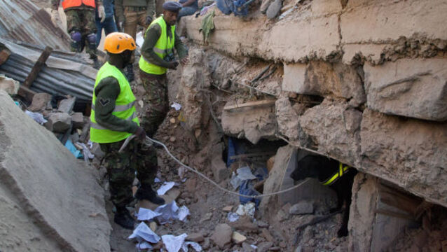Two dead in Kenyan building collapse