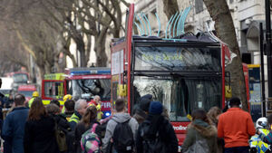 'Lucky escape' as London bus has roof torn off