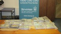 Two arrested after cocaine worth €1.5m seized by Revenue in Rosslare