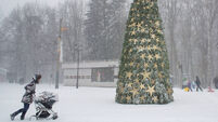 White Christmas hits Moscow flights