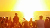 Spectators rocked by shockwave of Antares blast