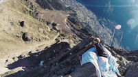Video: The world's first mid-air wingsuit high-five