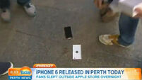 VIDEO: The first person to buy an iPhone 6 in Perth dropped it immediately