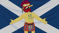 Groundskeeper Willie picks his side on the Scottish Independence debate