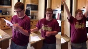 VIDEO: Teen with Down Syndrome reacts to getting his first job