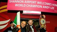 Andy Lee comes home to rapturous reception