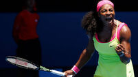 Serena recovers to make third round