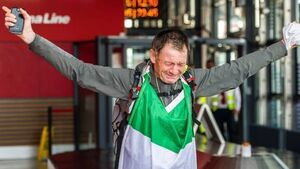 Emotional homecoming for 'Ireland's Forrest Gump'