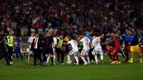 Serbia and Albania await sanctions after abandoned match