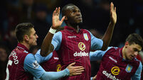 Benteke strikes late to lift Villa out of relegation zone