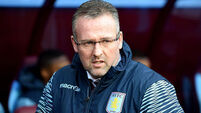 Villa coach Lambert leaves club