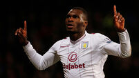 Given returns for Villa as Benteke misses Cup tie with hip injury