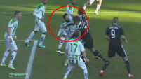 Watch: Ronaldo gets away with punch but gets sent off later as Madrid take ragged win