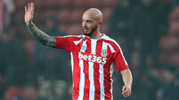 Goals from Stephen Ireland spare Stoke's blushes