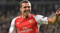 Gunners hand over Podolski on loan