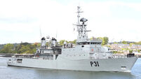 Navy returning LÉ Eithne to service as Cork Covid-19 testing centre