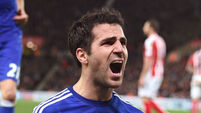 No Fabregas for Chelsea; Lampard on the bench for City