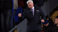 Pardew gets win in first game in charge at Palace