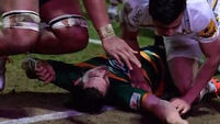George North knocked out cold; Twitter argues over red card