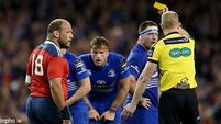 Leinster see red as Munster see lots of yellows and still win