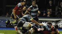 Late Butler try gives Munster win at Cardiff