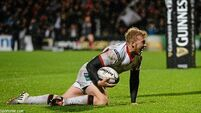 Olding brace helps Ulster back to winning ways against the Dragons