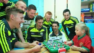 Kerry bring Sam Maguire to Crumlin Children's Hospital