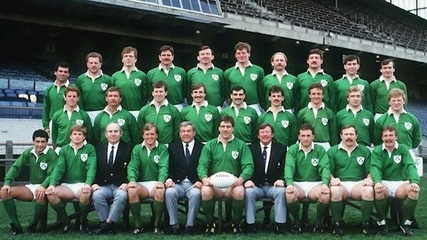 Nigel Carr (back row, 4th from right): Insists it was a great honour to don the green shirt