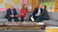Mark Cagney kisses Alan Hughes on this morning's Ireland AM