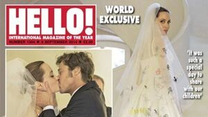 Angelina's wedding dress revealed - veil was covered in kids' drawings