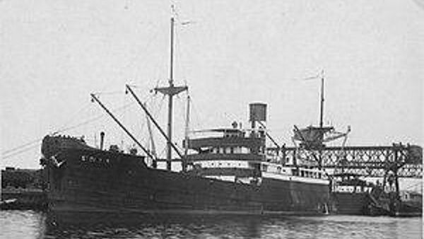 The Stolwijk which sank beside the island in 1940.