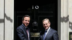 Enda Kenny meets David Cameron as bid to rescue Stormont power sharing is ramped up