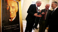Portraits of literary greats Seamus Heaney and CS Lewis unveiled at Stormont