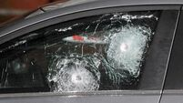 Pictures show bullet-riddled police car after west Belfast attack
