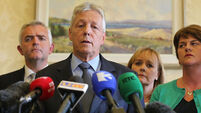 North's First Minister Peter Robinson has officially stepped down